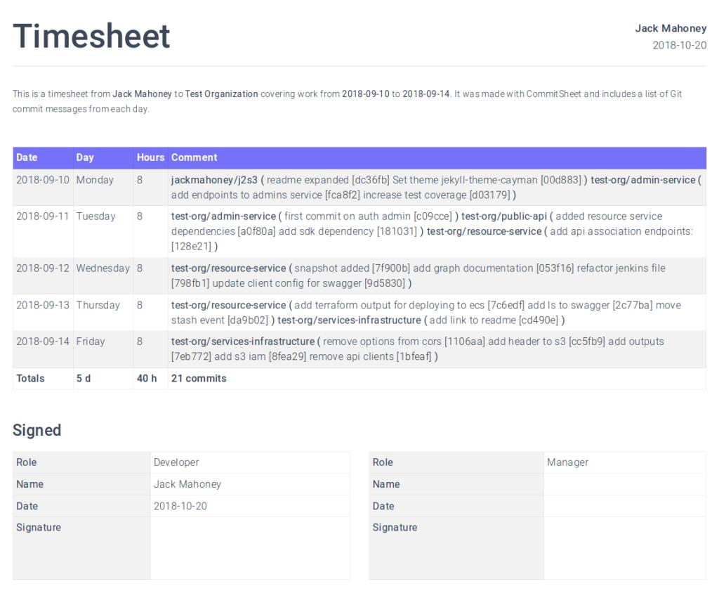 Coding Timesheet